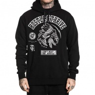 Black hoodie Hustle & Thrive for men