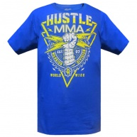 Blue t-shirt Hustle & Thrive for men